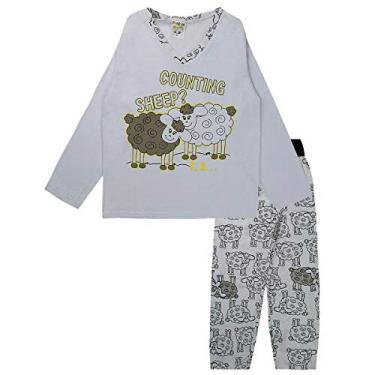 Pijama Infantil Masculino Estampado Decote V Azul Fantoni