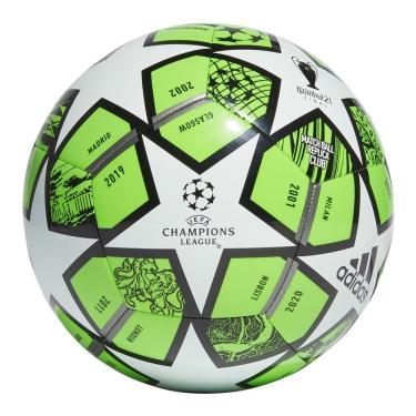 Bola Futebol Campo Adidas UCL Finale Club 21 GK3471, Cor: Verde/Branco, Tamanho: 5