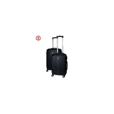 Imagem de Conjunto de 2 malas de viagem em abs preto com rodízios E cadeado universal tsa