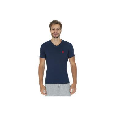 Camiseta Polo US 706TSGVB - Masculina - AZUL ESC VERMELHO Polo Us 7f9c2a7aba309