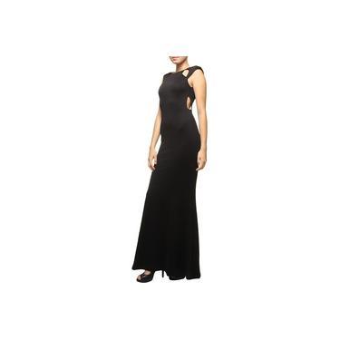 Vestido Longo Juliana Jabour Vazado Malha Double