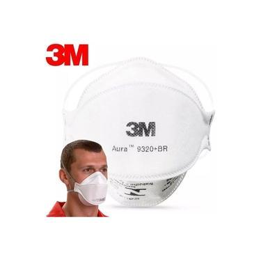 Máscara N95 Pff2 Proteção 3m Aura Pff-2 9320 Branca Envio Já