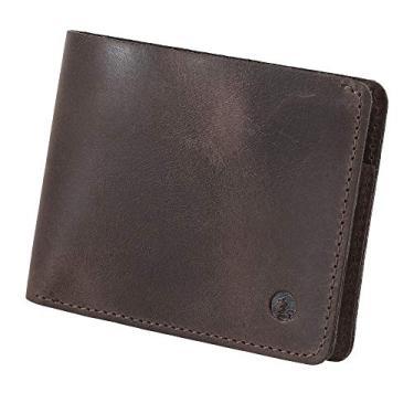 Carteira Couro Legítimo Masculina Slim CNH, Cartões e Notas Manaus Couro50 (Tabaco)