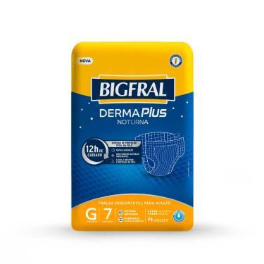 Imagem de Fralda Geriátrica Bigfral Derma Plus Noturna G com 7 unidades 7 Unidades