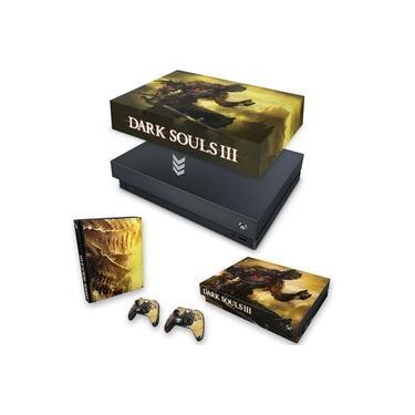 Capa Anti Poeira e Skin para Xbox One X - Dark Souls 3