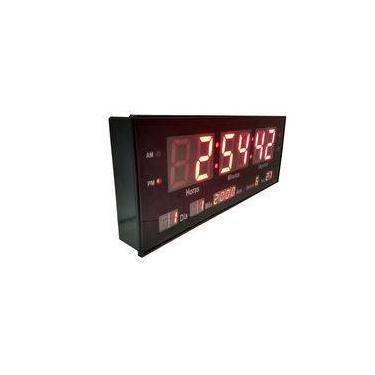 cd28f7807a4 Relógio de Parede Led Digital Calendário Termômetro Brinde33