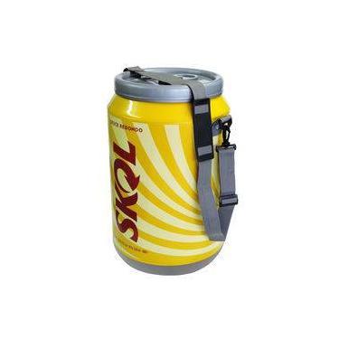 Imagem de Cooler Térmico 24 Latas Alça de Nylon Estampado Cerveja Skol Bebida Gelada Festa