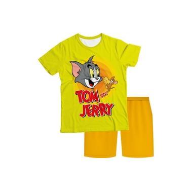 Pijama Infantil Tom e Jerry Amarelo PJMC