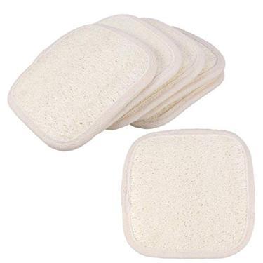 Imagem de Lurrose 6 peças Loofah Toalhas de banho Esfoliante corporal Escova de massagem nas costas Toalha de banho Toalha de banho Suprimentos para dormitório doméstico para meninas mulheres (