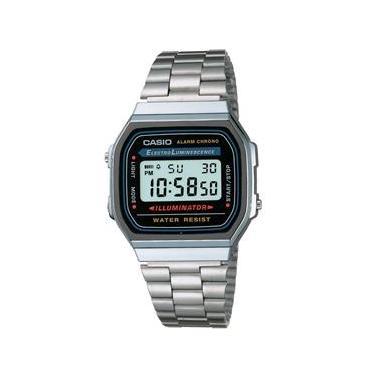 db861fc3339 Relógio Unissex Digital Casio Vintage A168WA-1WDF - Prata