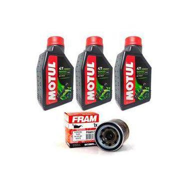 Kit Troca Oleo Filtro Fram Honda Cb 500 X/f Motul 5000 10w30