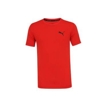 ba231743141ec Camiseta Puma Ess Active - Masculina - VERMELHO Puma