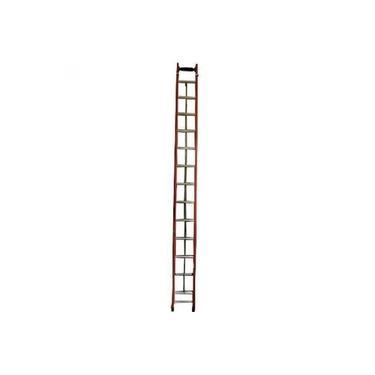 Escada de fibra de vidro 12 / 20 degraus 3,60 x 6,00 m modelo extensível - ESC36060 - Rotterman
