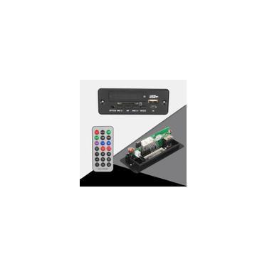Imagem de Módulo de placa de decodificação 5V / 12V bluetooth MP3 wma wav Amplificador viva-voz para carro fm USB