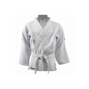 Kimono Dragão Adulto Judô Trançado Brasil Branco