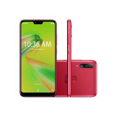 """Smartphone Zenfone Max Shot Dual Chip Android 6.2"""" Qualcomm Octa Core 64GB 4G Câmera Traseira 12MP+5MP+8MP - Vermelho"""