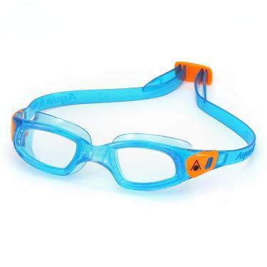 b8b4d60184237 Óculos Natação Kameleon Kids Lente Transparente Aqua Sphere - Azul Laranja