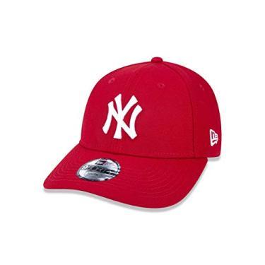 BONE 940 NEW YORK YANKEES MLB ABA CURVA VERMELHO NEW ERA ee874fbe095