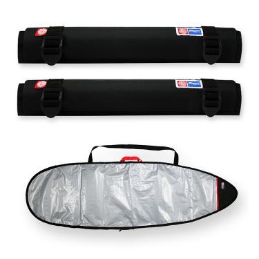 Capa Prancha Surf Refletiva 6'0 a 6'3 com Tubo Espuma 40cm
