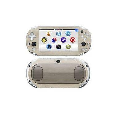 Kit Skin Adesivo Protetor Ps Vita Playstation 2000 Slim (madeira Clara)
