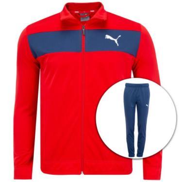 Conjunto Puma Techstripe Tricot Suit Op Masculino Tamanho P