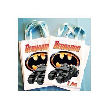 Imagem de Kit Com 50 Bolsinhas Eco Bag Sacola Mochilinha Tema Batman