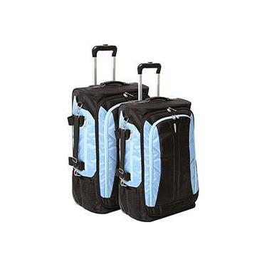 Conjunto de 2 Malas de Viagem Batiki 20 24 - Azul