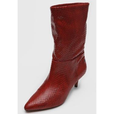 Bota Capodarte Slouch Cobra Vermelha Capodarte 4015122 feminino