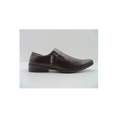 Sapato Ferracini Masculino Em Couro Confort Marrom Cafe 4378-223t