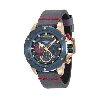 76c375ba5 Relógio Seculus Masculino Cronógrafo Azul 13017GPSVLC3