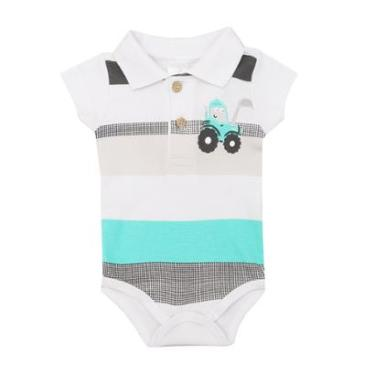 Body Polo Bebê Manga Curta Listrado - Masculino 35ce2dafdc9b3