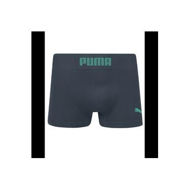 Cueca Long Boxer Puma Sem Costura - Cinza\verde