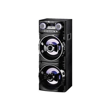 Caixa Amplificada Bluetooth 1000WRMS Amvox ACA1001 MP3 FM com Entradas Microfone e USB