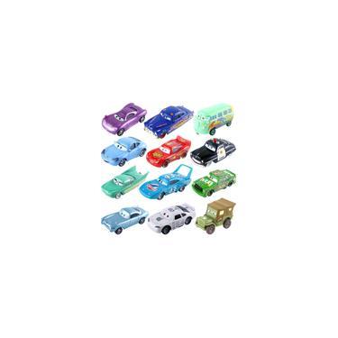 Imagem de Carrinhos em miniatura inspirados em carros, da disney pixar, ''personagens, tais como relâmpago mcqueen, tempestade jackson, king hss, ramirez, transformados em reais carrinhos de liga de metal para meninos