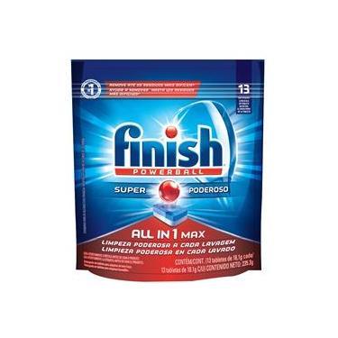 Finish Detergente para Máquina de Lavar Louças FINISH Powerball Tabletes com 13 unidades de 18,1g cada
