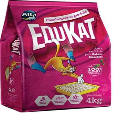 Areia Sanitária Alfa Pet Edukat para Gatos - 4kg