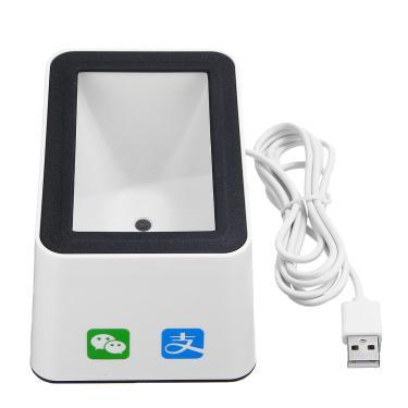 Scanner de código de barras automático 2D QR com as mãos livres, leitor de código de barras USB para desktop Banggood