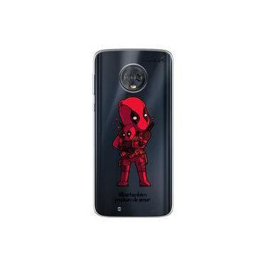 Capa para Moto G6 Play - Vilões Precisam de Amor   DeadPool