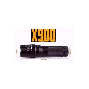 Lanterna Tática Policial Militar X900 Bateria Recarregável