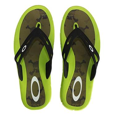 Chinelo Oakley Operative Print 4.0-10199BR-599 - Verde - 38