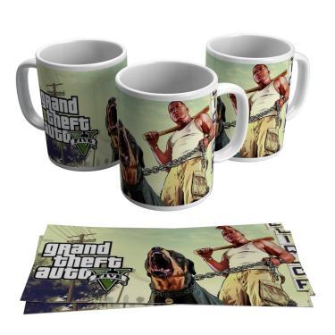 Caneca GTA Jogo Vídeo Game Gamer Geek Grand Theft Auto V