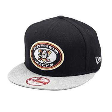 Boné New Era Snapback Anaheim Ducks Jersey Team Black/Grey - NHL