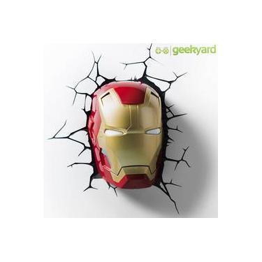 Máscara Do Homem De Ferro   Iron Man - Luminária 3d Light Fx Avengers b63ec2c26d7ff