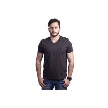 Camiseta Masculina Gola V Chumbo Ellus