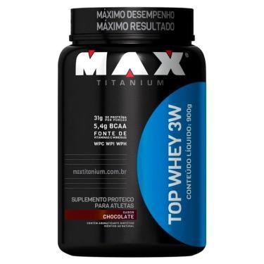 Top Whey Protein 3W Proteína Isolada Pote Max Titanium