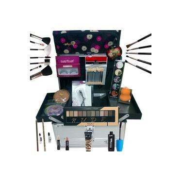 Imagem de Maleta de Maquiagem Grande Kit de Maquiagem Completo Profissional Ruby Rose