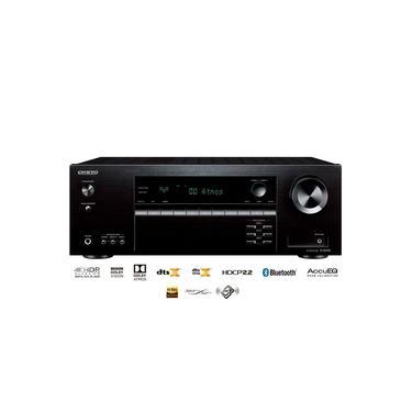 Receiver Onkyo TX-SR393 5.2 Canais Bluetooth Dolby Atmos 4K HDR Zona B 110V