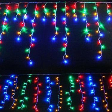 Imagem de Cascata Pisca Pisca 100 Leds de Natal 8 Funcao Decoração Natalina Colorida ( JA-81104 color)