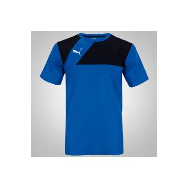 cedf74ec22 Camiseta Puma Jersey - Masculina - AZUL PRETO Puma