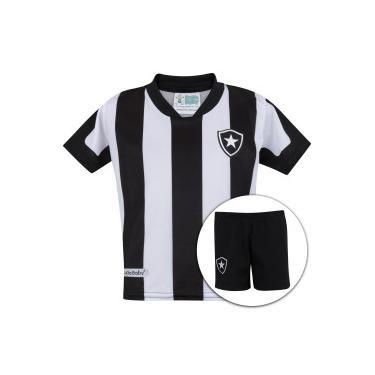 Kit de Uniforme de Futebol do Botafogo  Camisa + Calção - Infantil - PRETO  af8549243ebc0